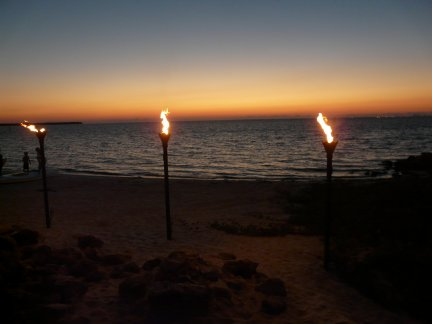 torches at Little Harbor.